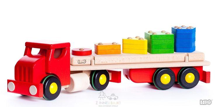 Ciężarówka z klockami- sorter, BAJO Z innej bajki - zabawki dla dzieci