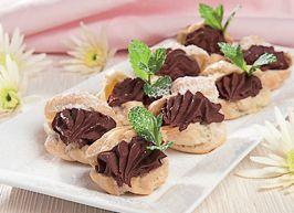 Små, festlige dessert-hapsere