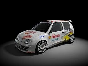 Seicento rally car, beautiful to my eyes anyway!