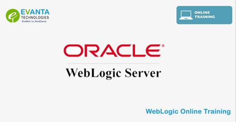 EvantaTechnologies provides Oracle Weblogic Server online training by real time Experts from Hyderabad, India. Our Oracle weblogic server admin course includes essential to advanced level of training.  Call +91 89786 82555 For Online Training Demo Timings and Classes.  #WeblogicTrainingInHyderabad #WeblogicTraining #OracleWeblogicCourse #WeblogicOnlineTraining #WeblogicTrainingOnline #OnlineWeblogicTraining #OracleWeblogicTraining #EvantaTechnologies http://www.evant