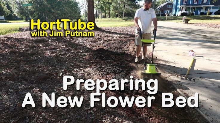Preparing a New Flower Bed Using a Soil Thermometer