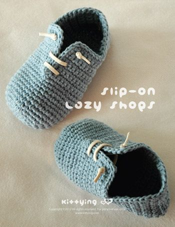 Slip-On Toddler Lazy Shoes Crochet PATTERN Kittying Crochet Pattern by kittying.com from mulu.us This pattern is designed in toddler sizes of 4 to 9.