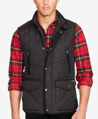 Polo Ralph Lauren Men\u0027s Diamond-Quilted Vest