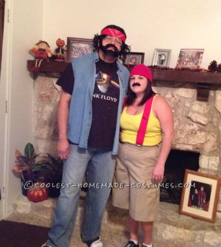 funny last minute couples costume idea cheech and chong - Ideas For Couples For Halloween