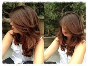 Brunettes: warm brown hair color