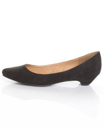 GoMax Days 01 Black Slightly Pointed Kitten Heels - GoMax Days 01 Black Slightly Pointed Kitten Heels | $32 | Lulu's