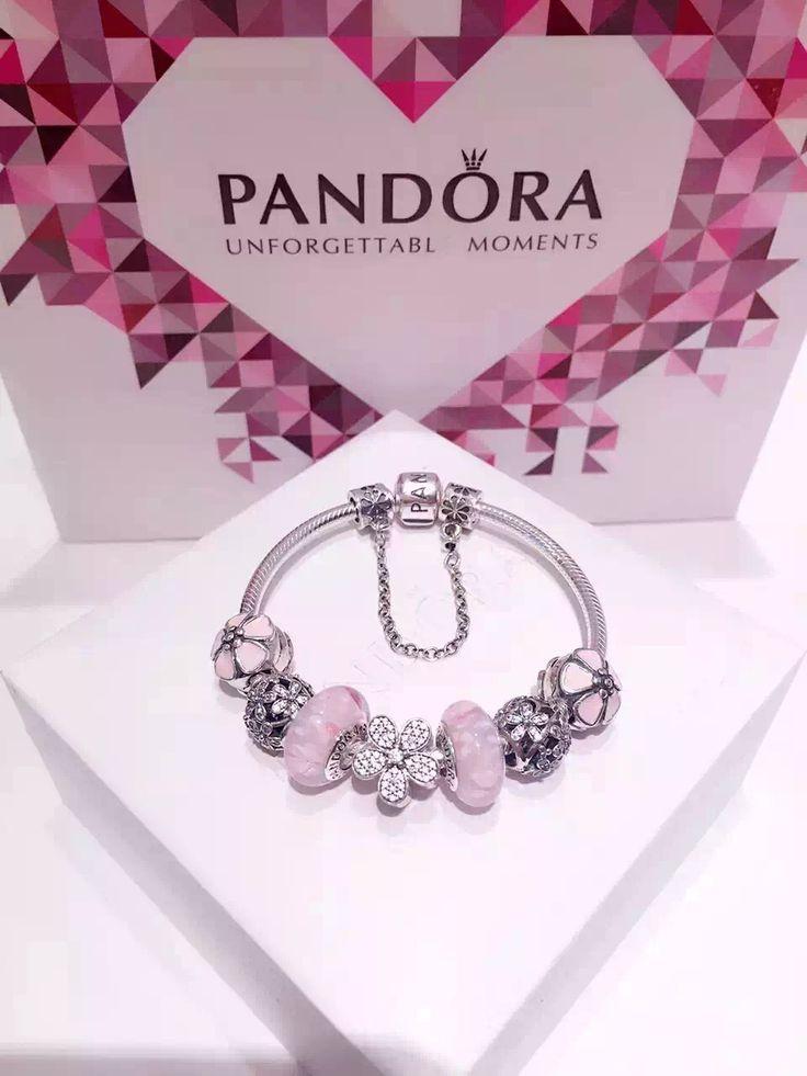50% OFF!!! $219 Pandora Charm Bracelet Pink. Hot Sale!!! SKU: CB01567 - PANDORA Bracelet Ideas
