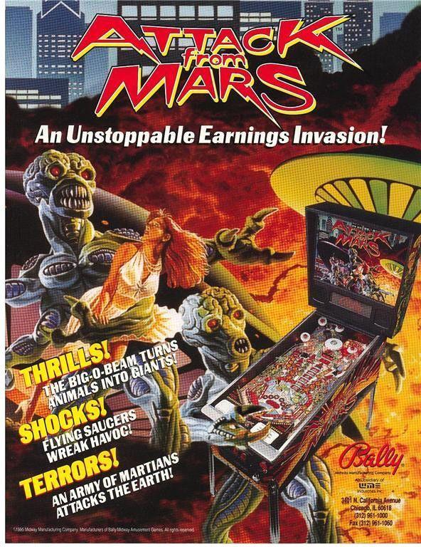 On Sale. ATTACK FROM MARS By BALLY 1995 ORIGINAL NOS PINBALL MACHINE SALES FLYER #pinballflyer #ballypinball