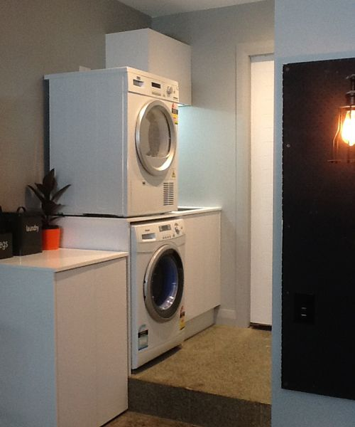 Maree and James' smart laundry solution - The Block NZ 2014 - featuring Laundry Powder & Peg tins from Briscoes