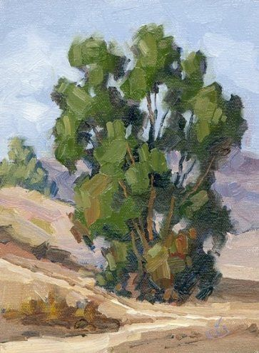 Plein air painting by Tom Brown