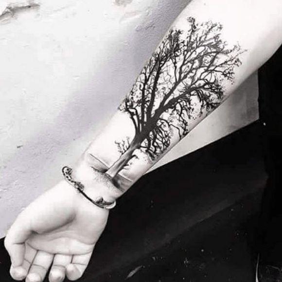 Arbre de vie tatouage poignet recherche google tatouages pinterest baum und natur - Tatouage arbre poignet ...