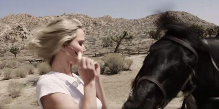 Watch Jennifer Lawrence Meet Her Horse Spirit Animal at the Vogue Video Shoot