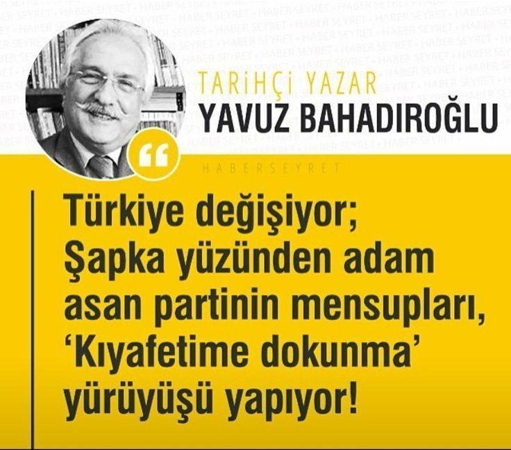 Chp nin ne desbot zalim diktador oldugunu bu adil müsluman millet çok iyi bilir.. Tarih çi yazar Yavuz Bahadıroğlu n dan  Malumun beyanı