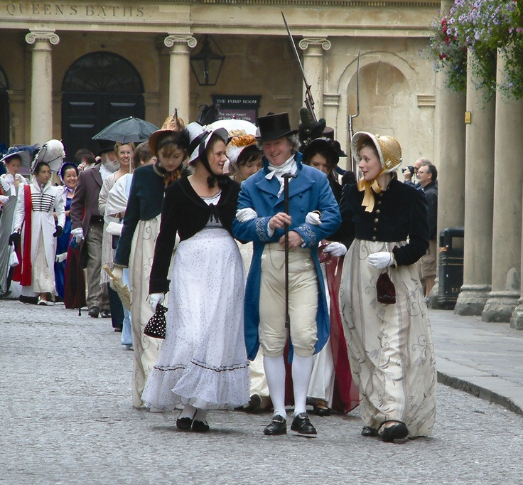 The Jane Austen Festival processional in Bath, England, UK