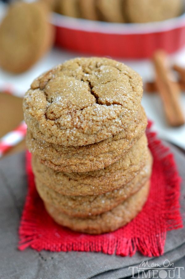 With plenty of spice and warmth, these Perfect Soft Ginger Cookies are just what your holiday season has been waiting for! Delightfully soft and chewy with a crisp sugar coated exterior, these molasses cookies are impossible to resist! // Mom On Timeout