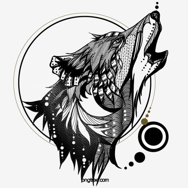 Wolf Howl Wolf Totem Hand Painted Elements Fierce Animal Howl Png Transparent Clipart Image And Psd File For Free Download Wolf Totem Wolf Howling Wolf Clipart