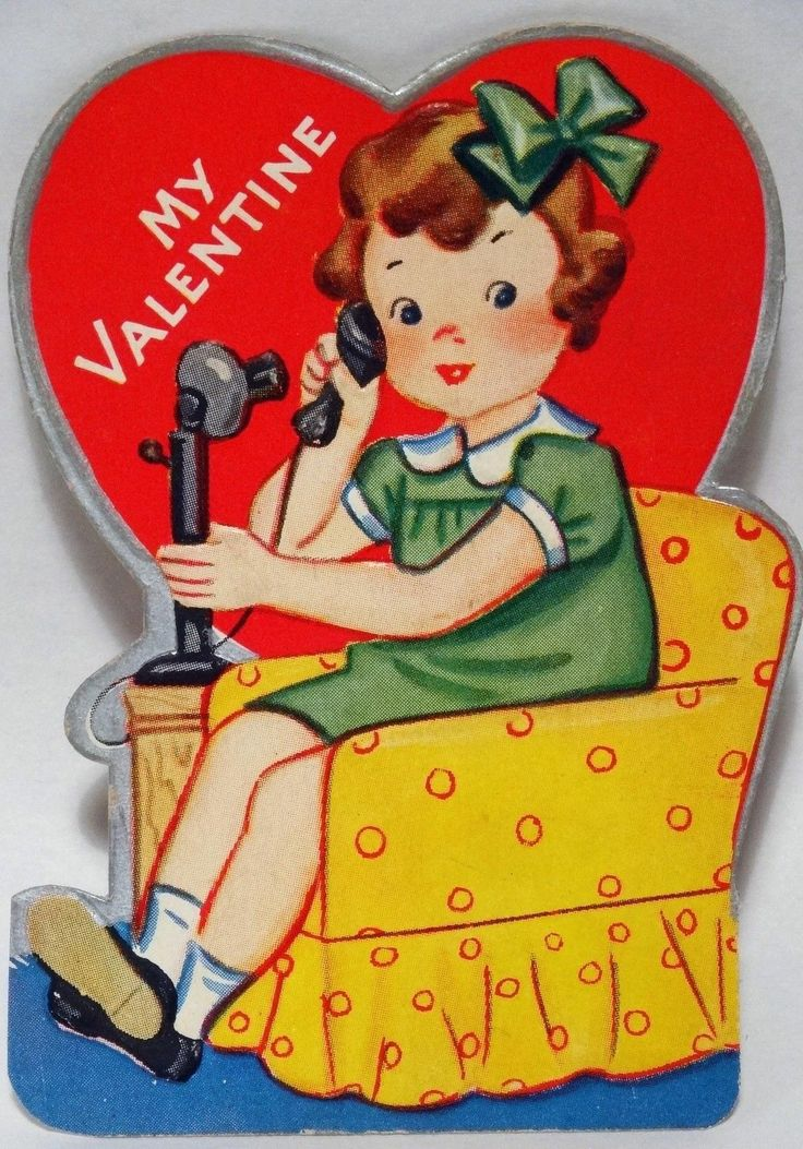 74 best images about Vintage valentine Cards Phones on – Talking Valentine Cards
