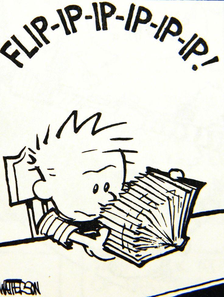 Calvin and Hobbes (DA) - Calvin is a speed reader!