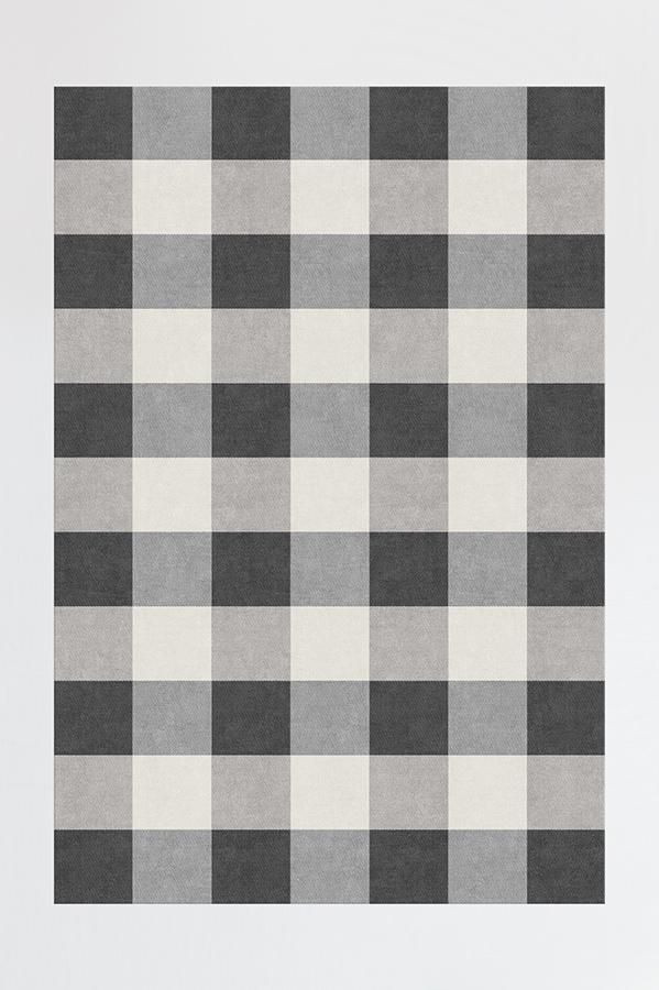 Buffalo Plaid Black Amp White Rug Products In 2019 Black