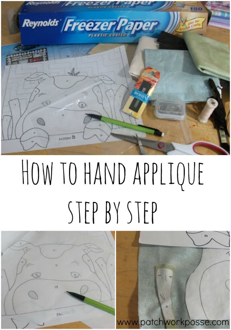 How to hand applique step by step - i've always wanted to learn this! this technique uses freezer paper
