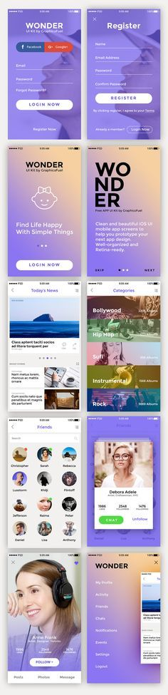 <p>Download 10 Premium App Screen UI Kit Free PSD. Freebie App UI kit containing a pack of 10 premium quality screens to make your app design prototype simple and easy. Each screen is fully editable and customizable, duly named, retina-ready…</p>