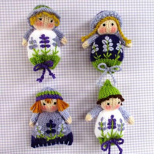 Ravelry: Lavender Sachet Dolls pattern by Wendy Phillips