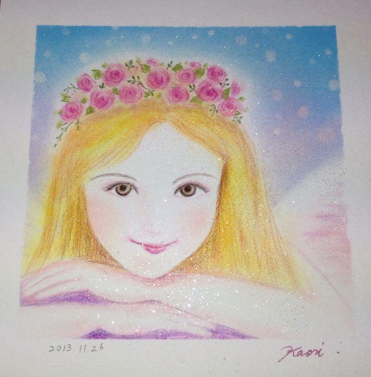 竹内香織が描いた、天使画です!