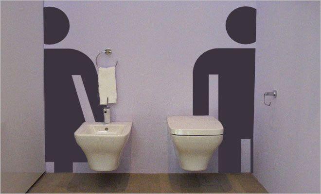 toiletmuurtekening