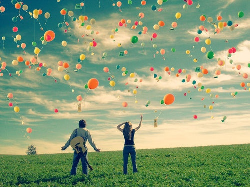 : Sky, Dreams, Colors, Happy, Things, Balloons, Couples Fun, Photography, Heavens