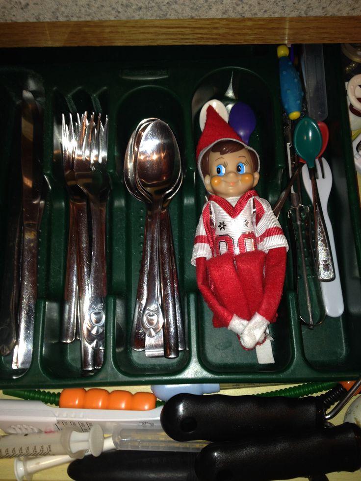 Elf On A Shelf Idea;););)