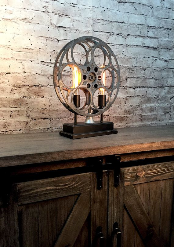 Accent Table Lamp Vintage Film Reel by BenclifDesigns on Etsy