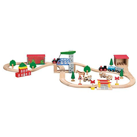 Buy John Lewis Wooden Train Set Online at johnlewis.com