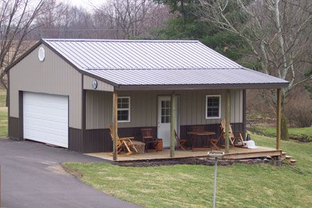 Metal Buildings With Living Quarters Light Commercial Steel Pole Barn Homes Pinterest