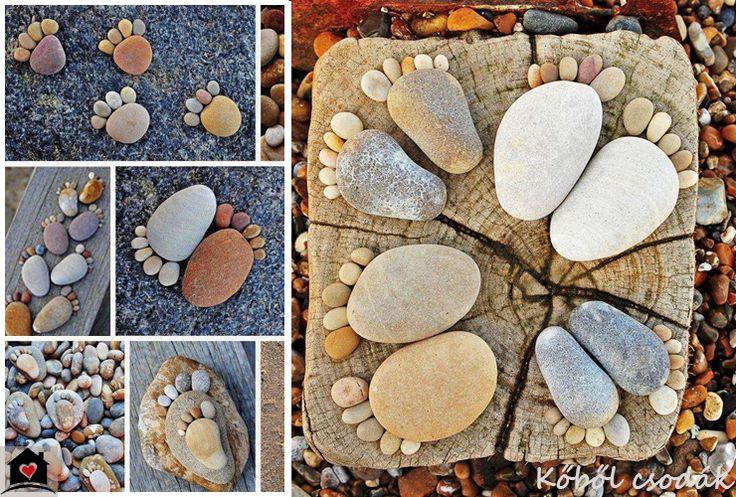 Dekoráld az otthonod egyszerűen kövekkel - lábnyomok