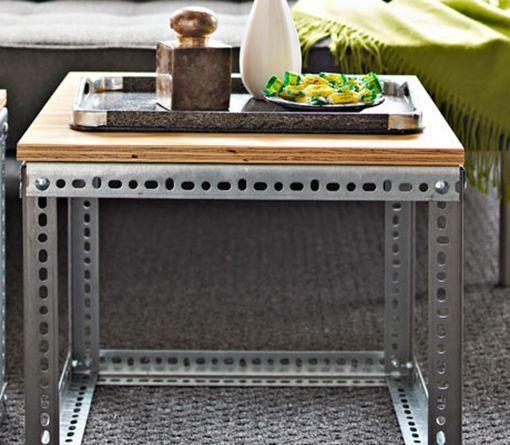 M s de 100 ideas para probar sobre hacer muebles brico for Mesa auxiliar industrial