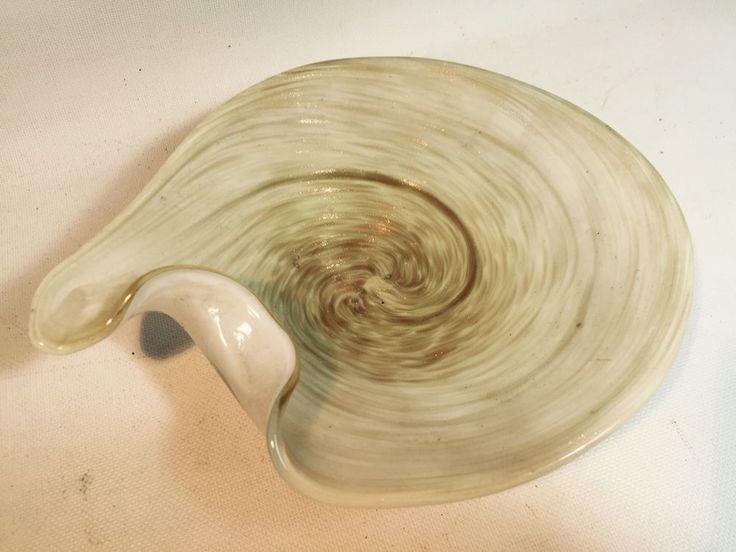 VINTAGE MURANO ITALIAN ART GLASS GOLD & WHITE CASED GLASS BOWL