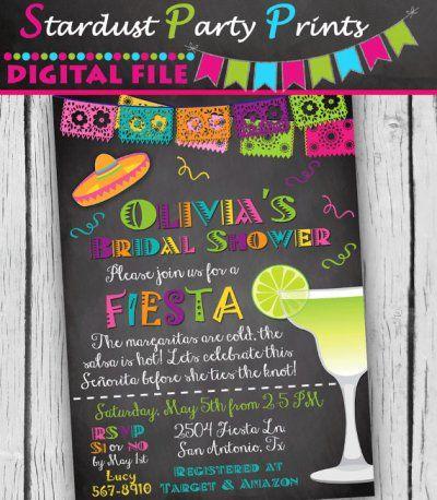 19 best Fiesta Bridal Shower Ideas images on Pinterest - printable bridal shower invites