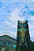 "New artwork for sale! - "" Totem Pole Raven Totem Native Wood  by PixBreak Art "" - http://ift.tt/2m2oH19"