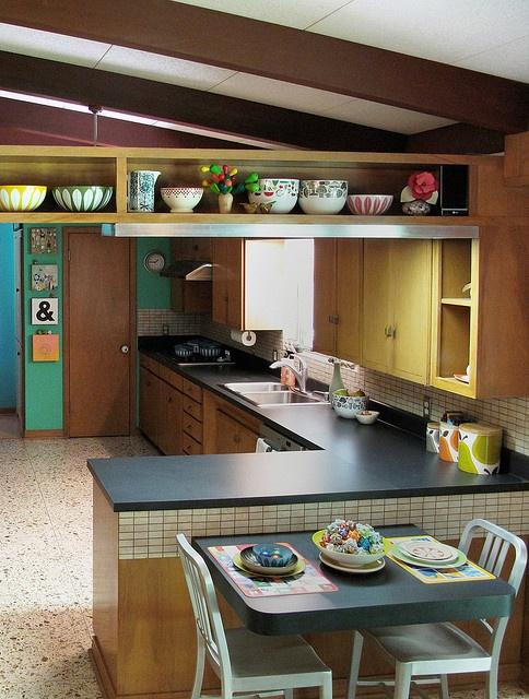 {modern mid century kitchen} bits of Cathrineholm + Orla