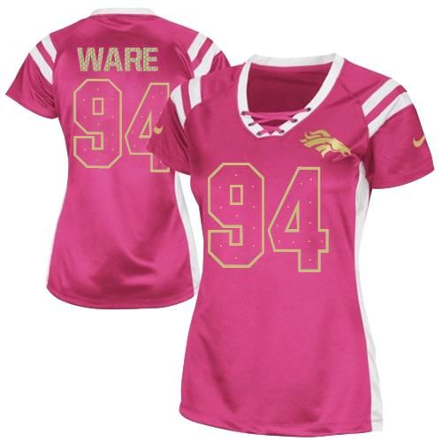 wholesale dealer a17fc 18c19 limited demarcus ware womens jersey denver broncos 94 fem ...