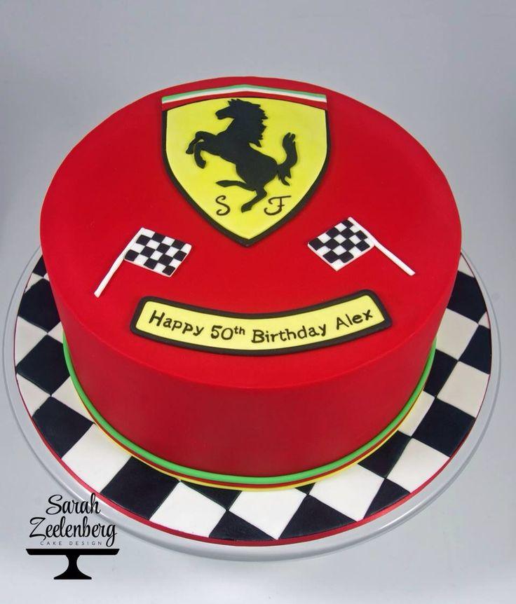Ferrari Cake. Sarah Zeelenberg Cake Design