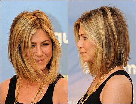 Asymmetrical bob Jennifer Aniston.