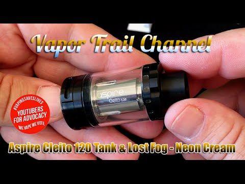 Aspire Cleito 120 Tank & Lost Fog - Neon Cream Eliquid