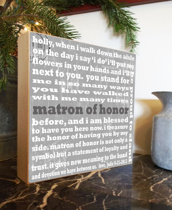 Thank You Gift Be My Maid of Honor by ChocolateMooseHome on Etsy