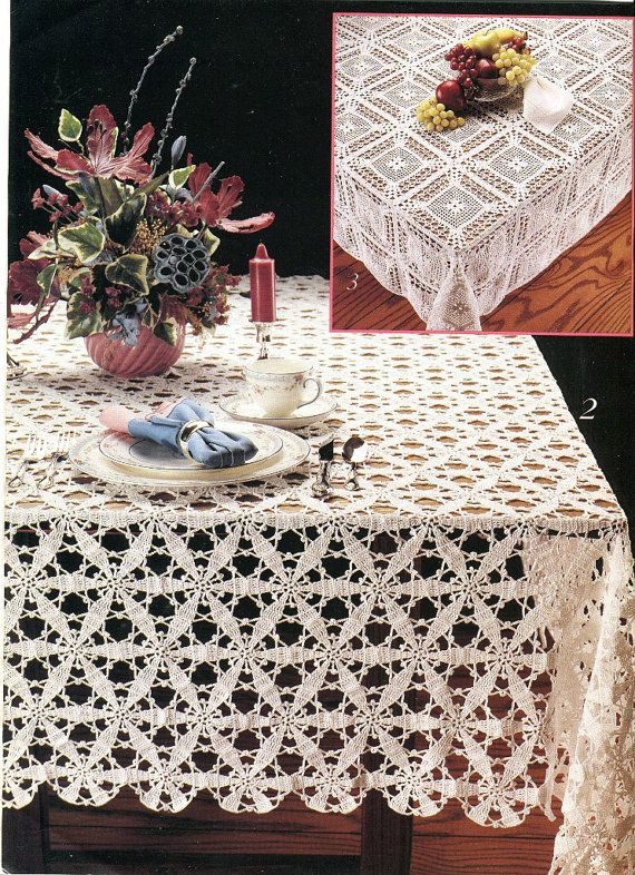 Cotton Thread Crochet Pattern Book Motif by KenyonBooks on Etsy