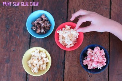 Customise simple popcorn with these 4 easy to make recipes. 4 awesome recipes. Sweet and savoury - something for everyone. // Paint Sew Glue Chew