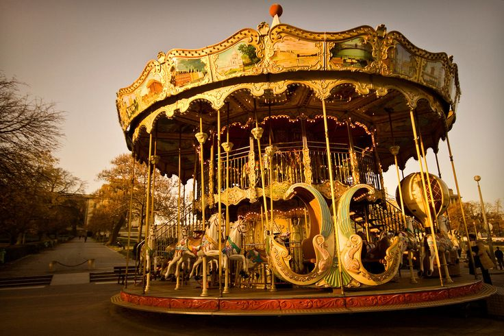 Carousel in Paris - France.