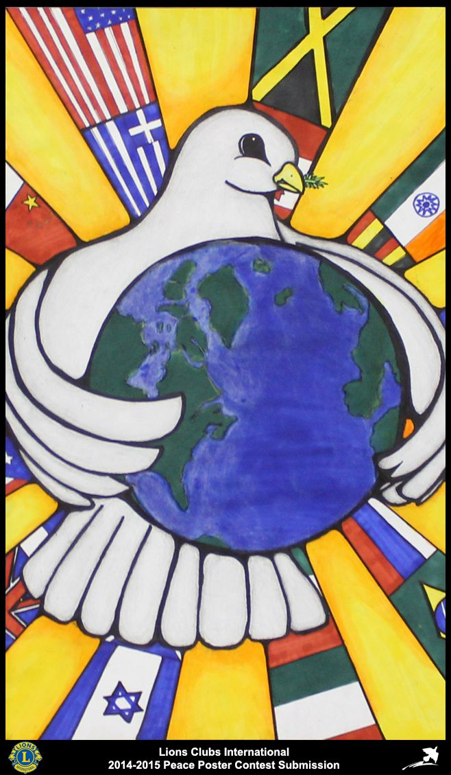 2014-15 Lions Clubs International Peace Poster Competition submission from Sachse Lions Club in Texas