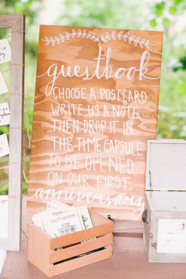 Unique Wedding Guestbook Postcard Non Traditional Time Capsule