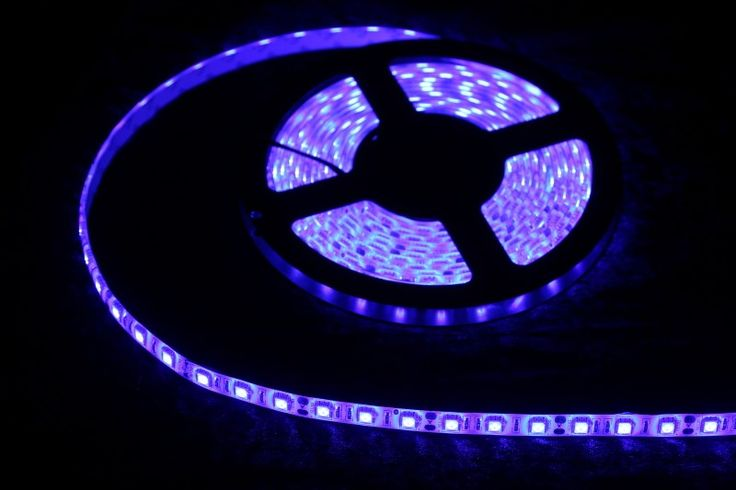 Strip Lighting LED Blue SMD5050 IP65 5M Roll 14.4w/m 60 LEDs/m A$32.45 www.ecoindustrialsupplies.com